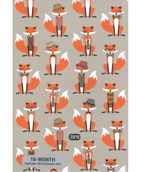 Dapper Foxes Weekly Planner2019 Calendar -  (Hardcover) - image 1 of 1