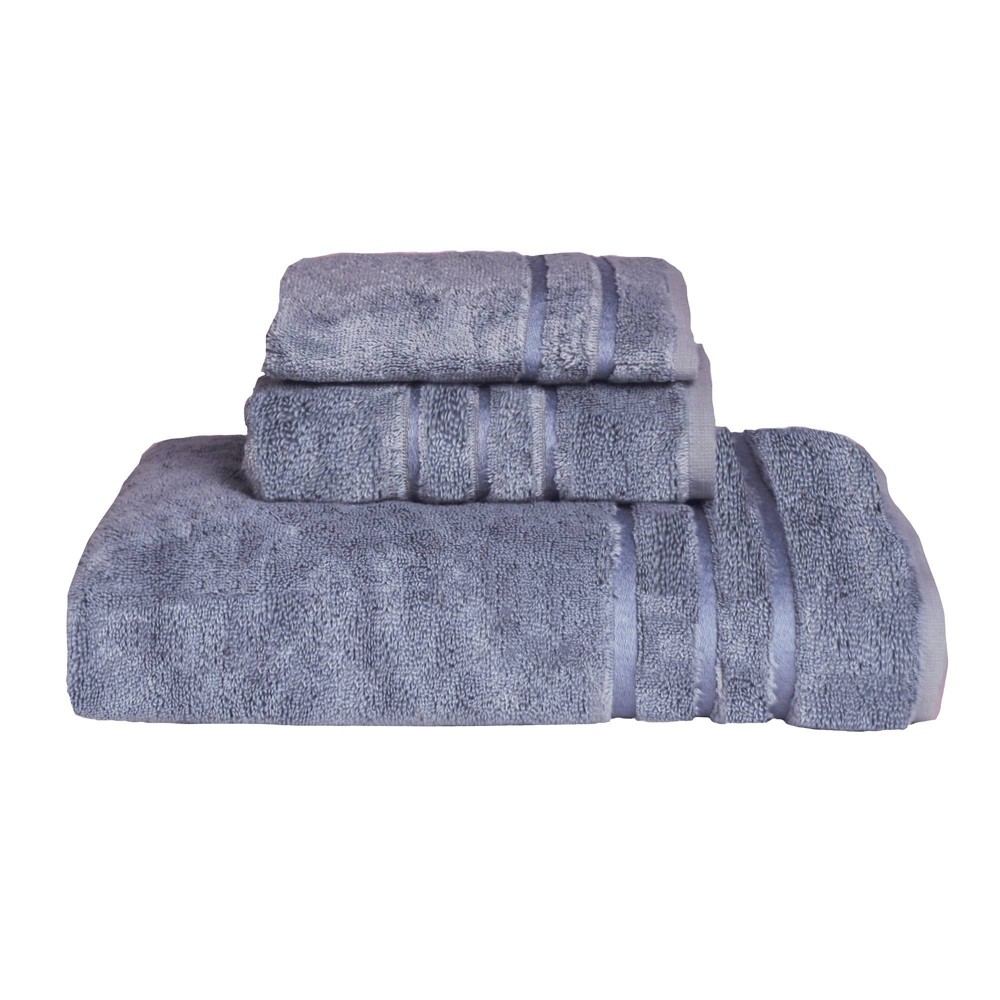Image of 3pc Rayon from Bamboo Towel Set Blue - Cariloha