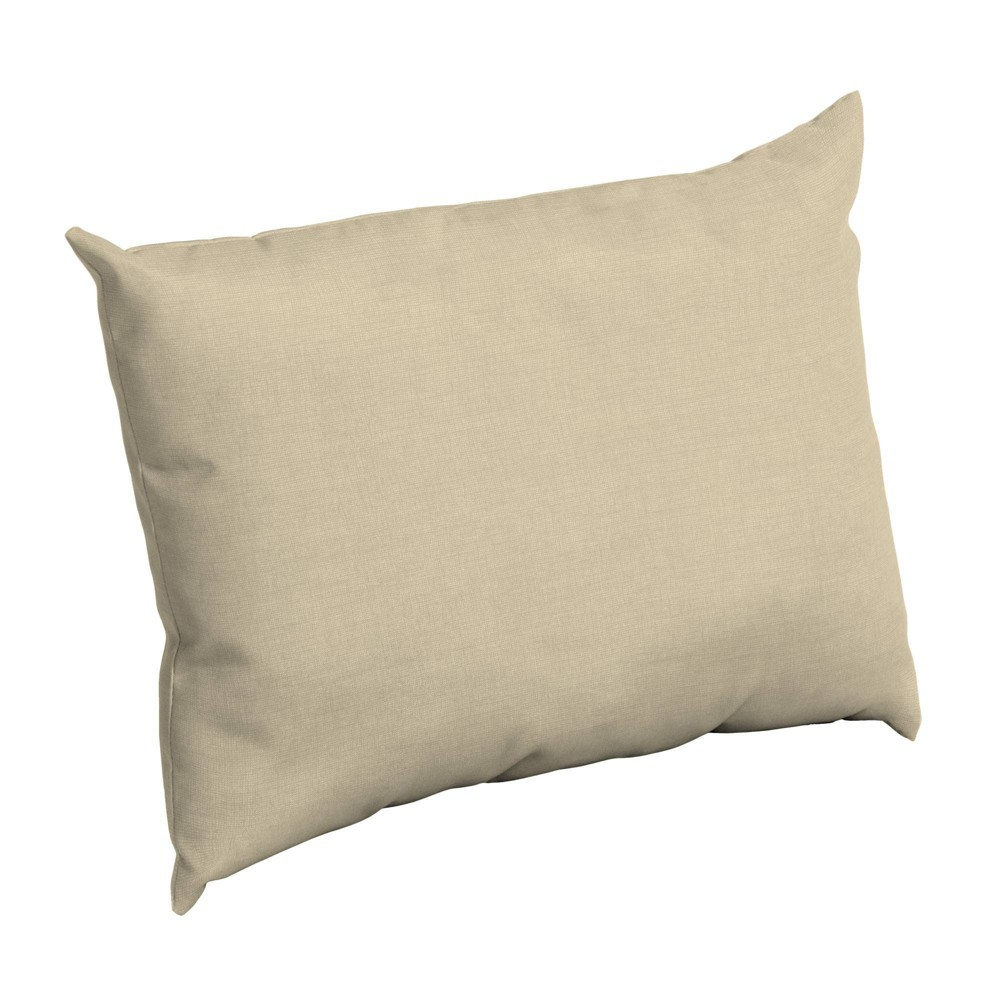 Arden Selections Outdoor Pillow Back Taupe Leala Texture
