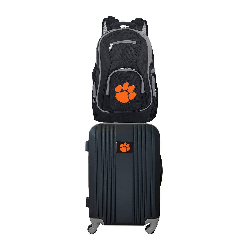 NCAA Clemson Tigers Premium 2pc Backpack & Carry-On Luggage Set