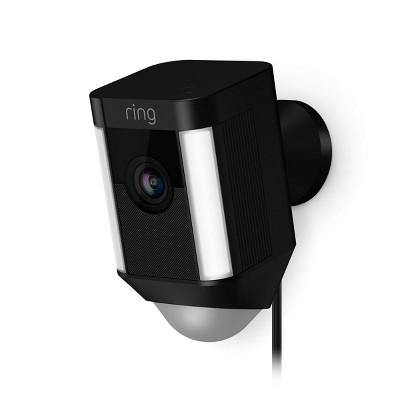 Ring Spotlight Cam Wired (plug-In)- Black (8SH1P7-BEN0)