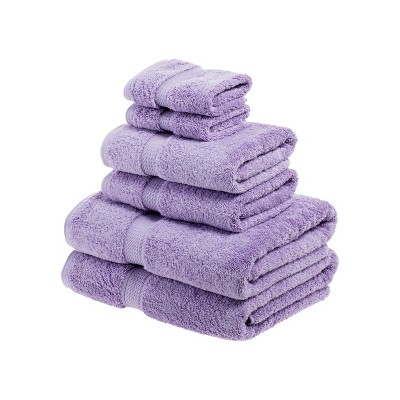 Plush and Absorbent Cotton Assorted 6-Piece Towel Set - Blue Nile Mills
