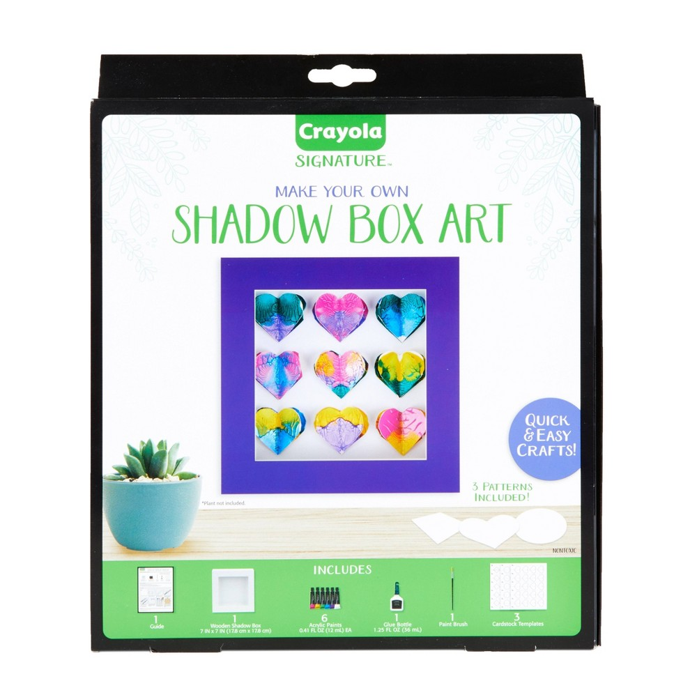 Image of Crayola 13pc DIY Shadow Box, Personalized Picture Frame Kit
