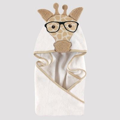 Hudson Baby's Animal Face Hooded Towel, Giraffe - Beige 0-24M