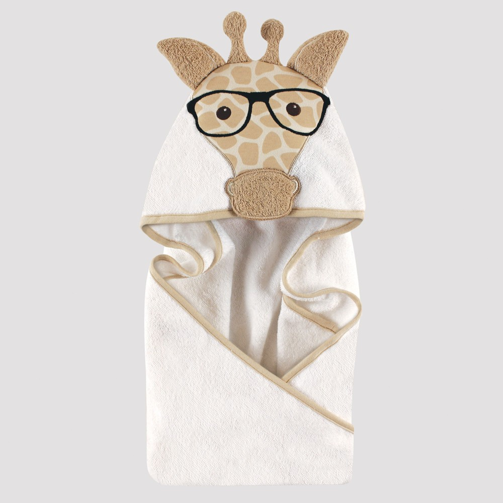 Image of Hudson Baby Animal Face Hooded Towel, Giraffe - Beige 0-24M