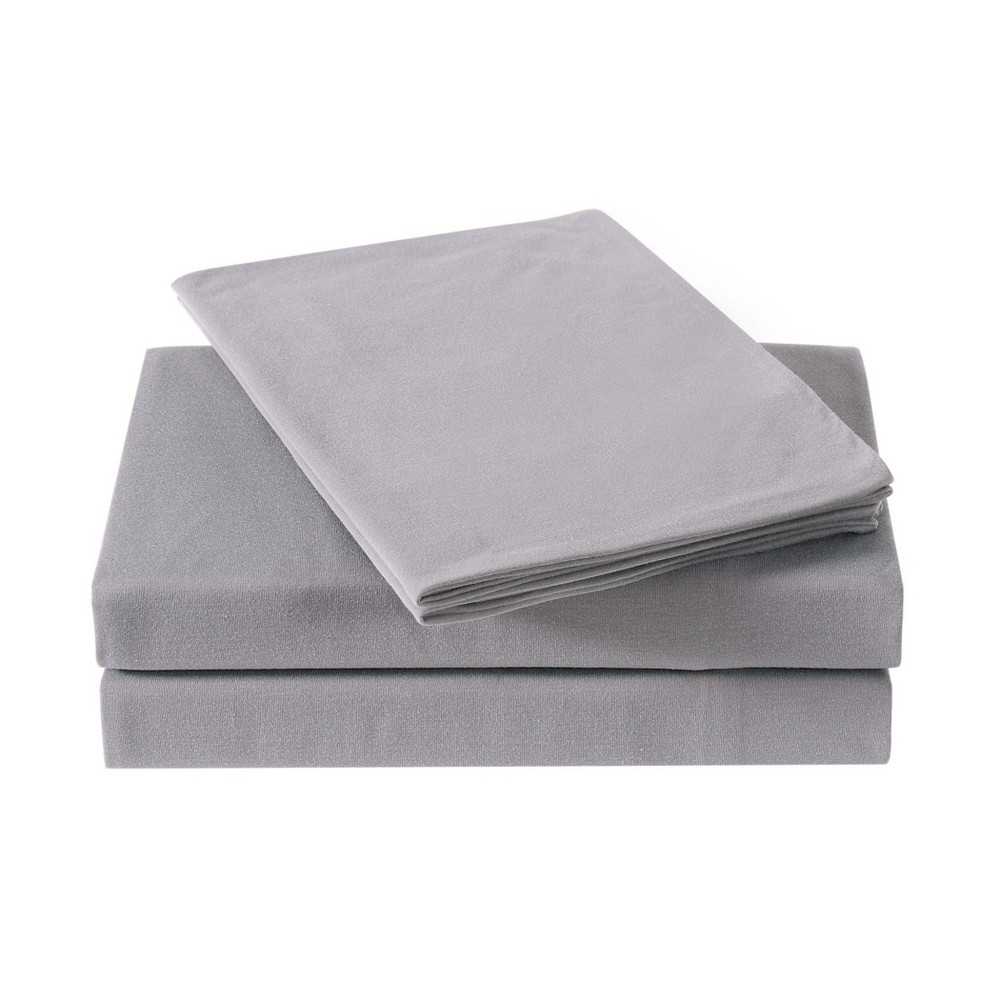 Image of Full Anytime Jersey Sheet Set Gray - My World