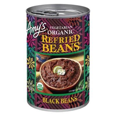Amy's Organic Vegetarian Refried Black Beans -15.4oz