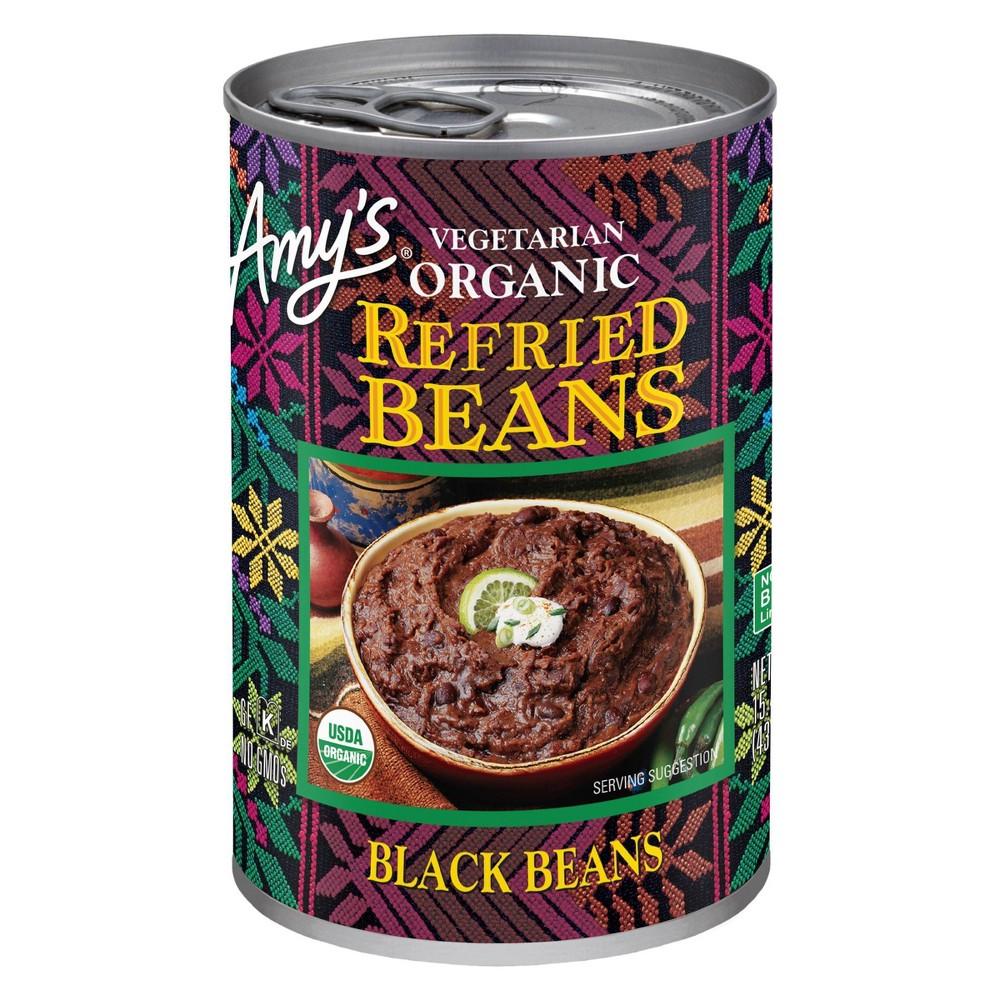 Amy 39 S Vegetarian Organic Refried Black Beans 15 4oz