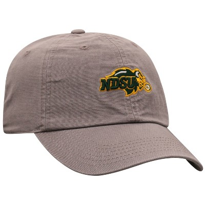 NCAA North Dakota State Bison Men's Gray Garment Washed Canvas Hat