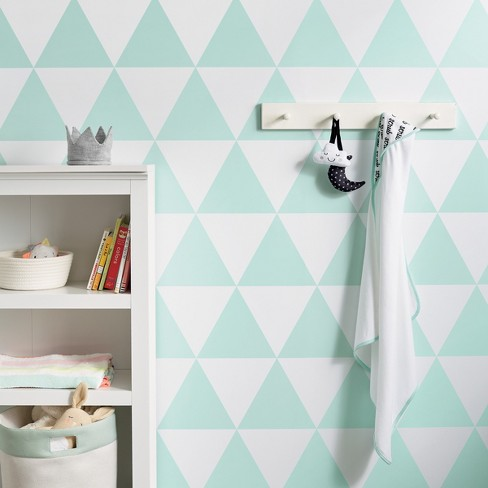 Peel & Stick Wallpaper Large Triangles Mint Green- Cloud Island™ - image 1 of 2