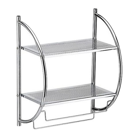 2 Tier Shelf With Towel Bars Neu Home Target