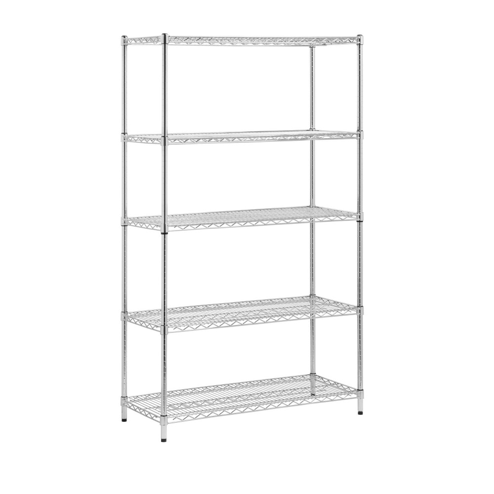 Image of Honey-Can-Do 5 Tier Storage Rack 800lb Silver