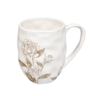 Evergreen Flag Ceramic Cup, 14 oz., At Ease Traditional