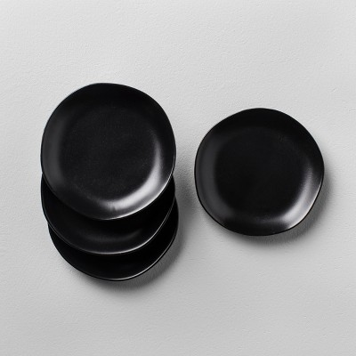 Stoneware Bread Plate Set of 4 - Black - Hearth & Hand™ with Magnolia
