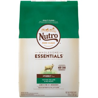 Nutro Wholesome Essentials Adult Lamb & Rice Dry Dog Food - 15lb