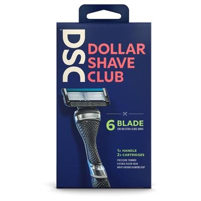 Dollar Shave Club Razor Handle + Two 6-Blade Cartridges