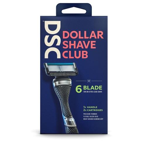 Dollar Shave Club Razor Handle + Two 6-Blade Cartridges - image 1 of 4