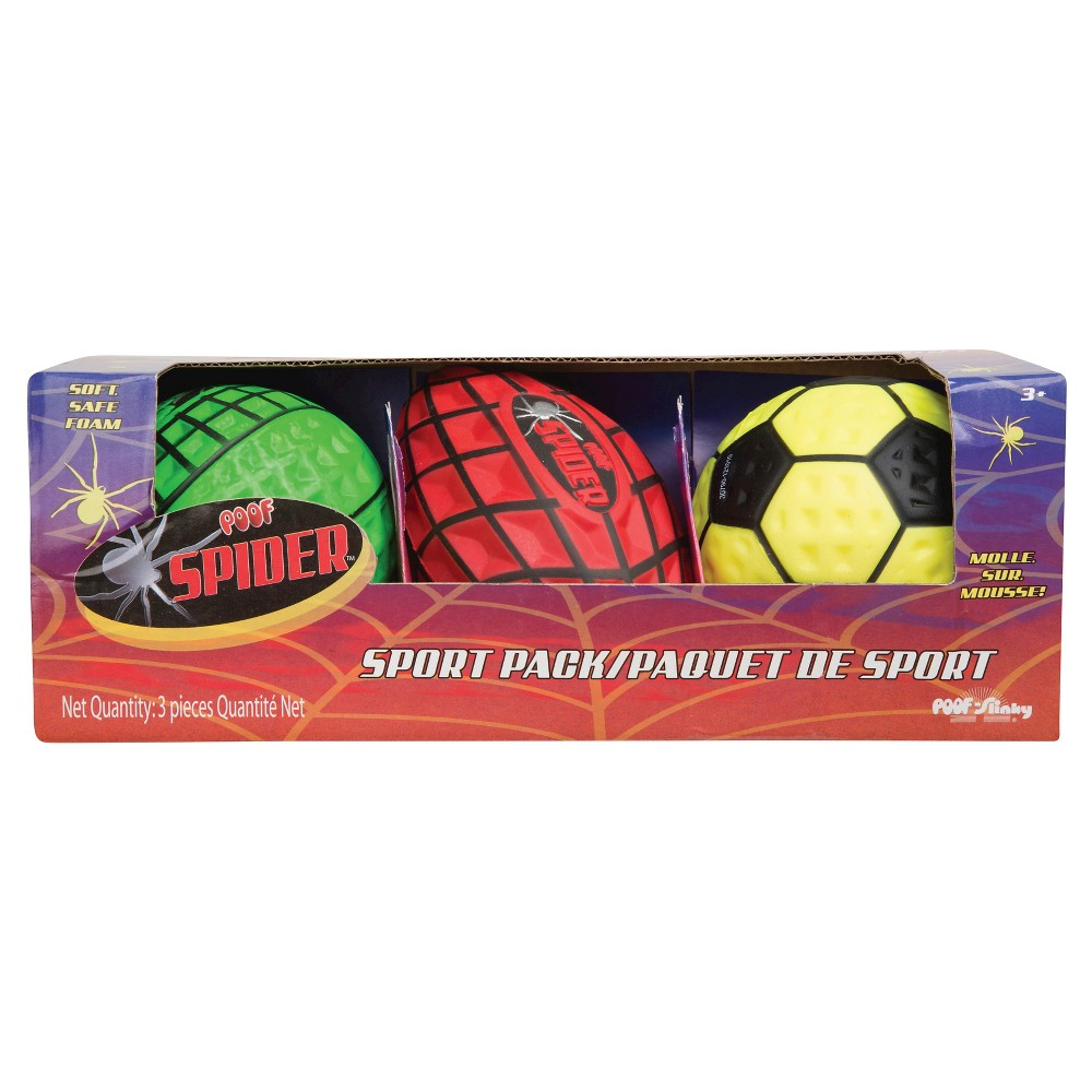 Poof Slinkey Spider Mini Sport Pack, Multi-Colored