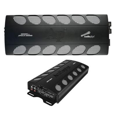 Audiopipe APCLE-18001D 1800 Watt Class D 1 Ohm Stable Car Audio Mono Amplifier and APCLE-2004 2000 Watt 4-Channel Class AB Car Audio MOSFET Amplifier
