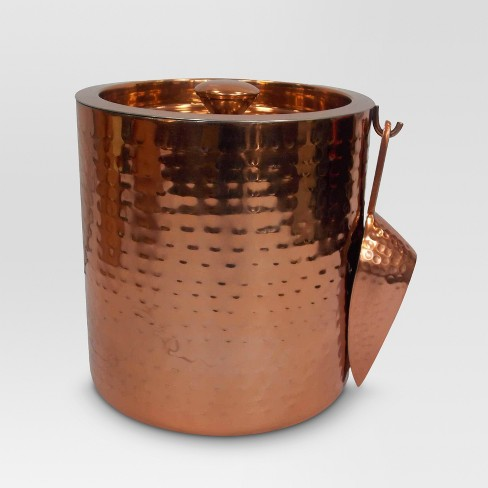 Aluminum Ice Bucket with Ice Scoop Copper - Threshold™ - image 1 of 1