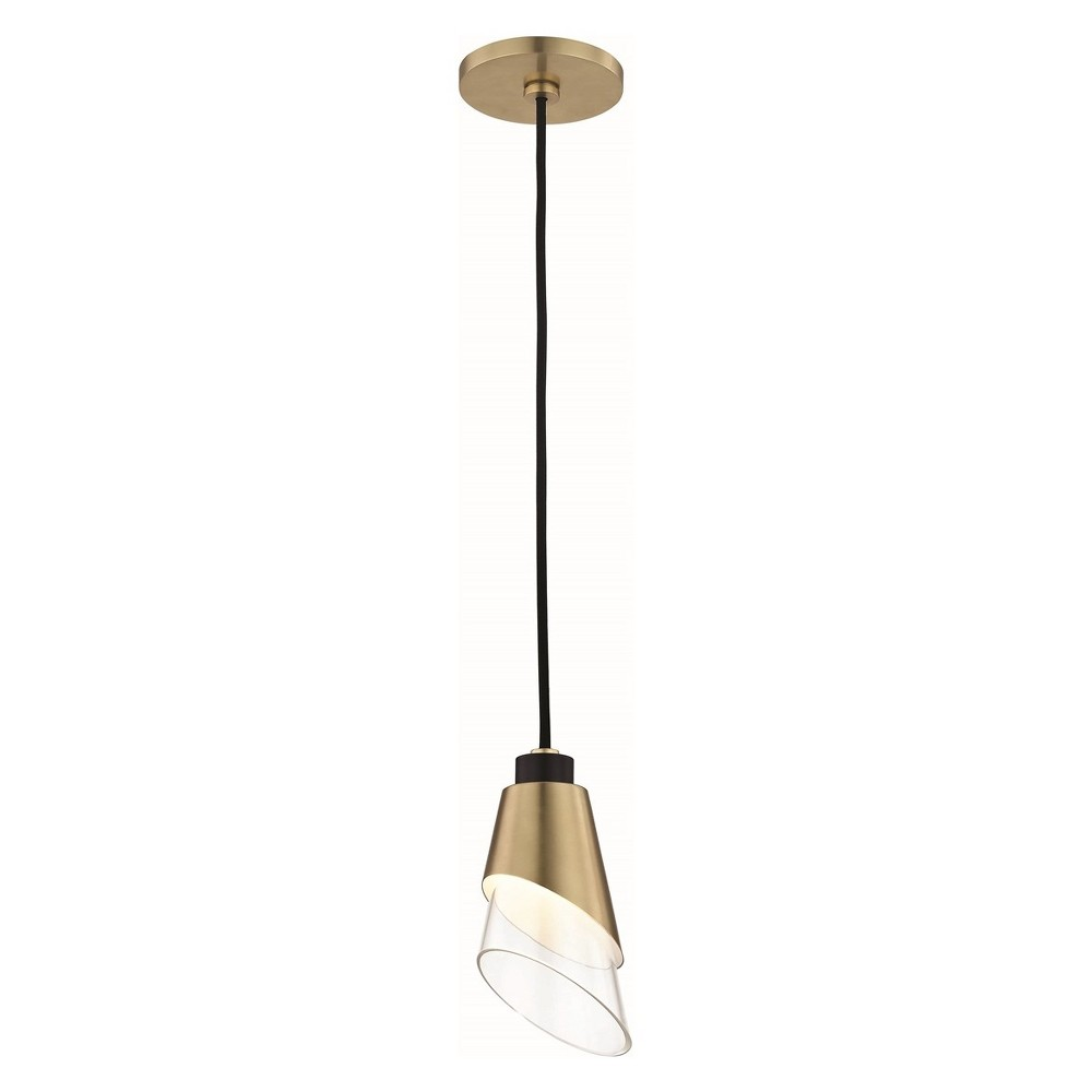 Image of Angie LED Pendant Chandelier Aged Brass - Mitzi by Hudson Valley