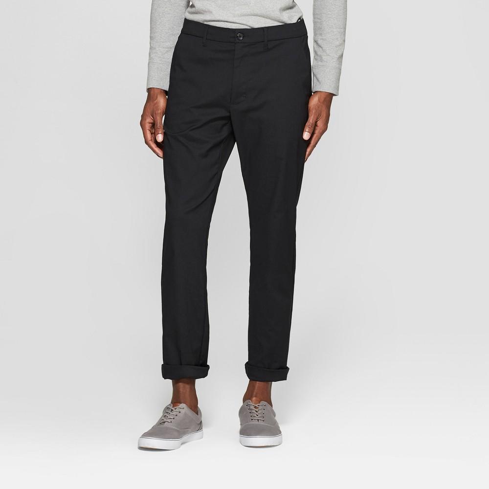 Men's Tech Chino Pants - Goodfellow & Co Black 33x30