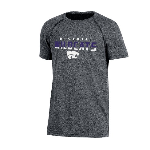 Kansas State Wildcats Boys Short Sleeve Crew Neck Raglan Performance T-Shirt - Gray Heather - image 1 of 1