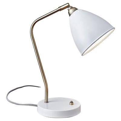 """16"""" x 21"""" Chelsea Desk Lamp White - Adesso"""