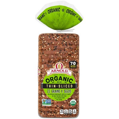 Arnold Organic Thin Sliced 22 Grains and Seeds Bread - 20oz