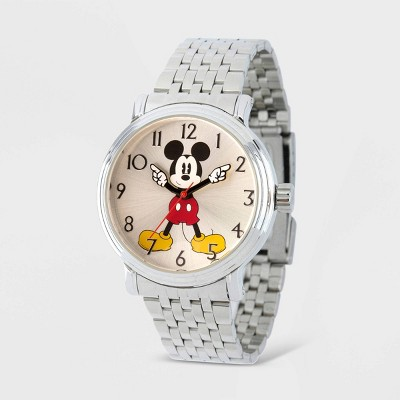 Men's Disney Mickey Mouse Vintage Bracelet Watch - Silver
