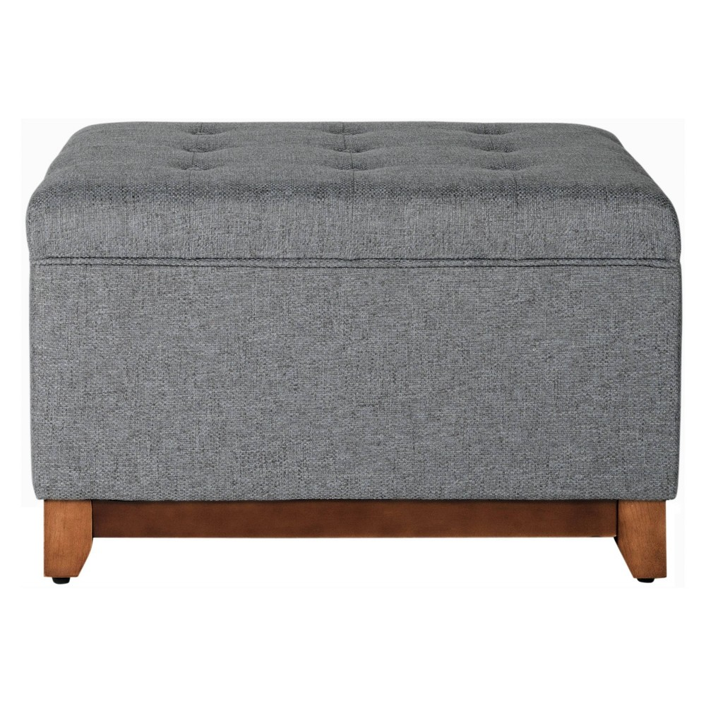 Storage Bench Charcoal Homepop