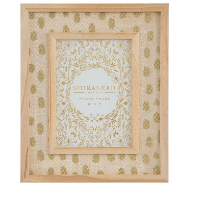 """Melrose Gold 5"""" X 7"""" Picture Frame - Shiraleah"""