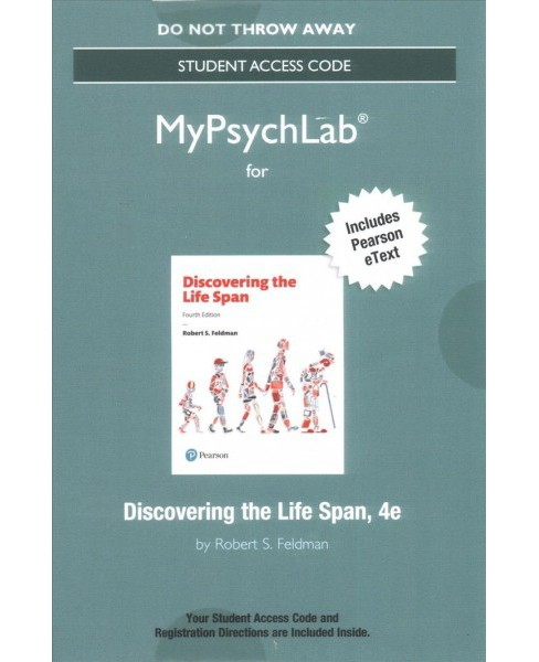 Discovering the Life Span MyPsychLab Access Code : Includes Pearson Etext (Hardcover) (Robert S. - image 1 of 1