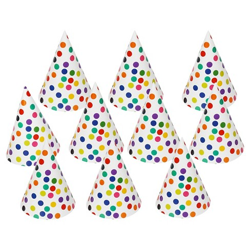 10ct Polka Dot Party Hat - Spritz™ - image 1 of 1