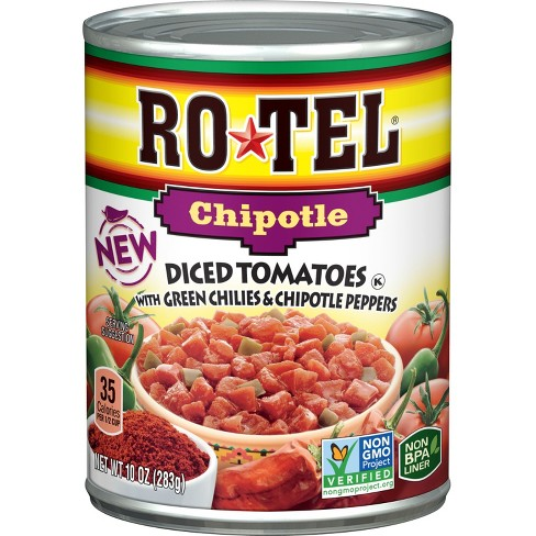 Rotel Chipotle Diced Tomatoes with Green Chili's & Chipotle Peppers - 10oz - image 1 of 2