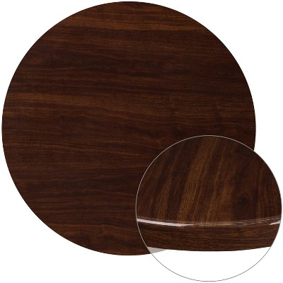 Flash Furniture 36'' Round High-Gloss Resin Table Top with 2'' Thick Drop-Lip