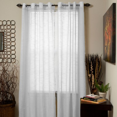 Yorkshire Home Mia Jacquard Grommet Curtain Panel - White (54 x108 )