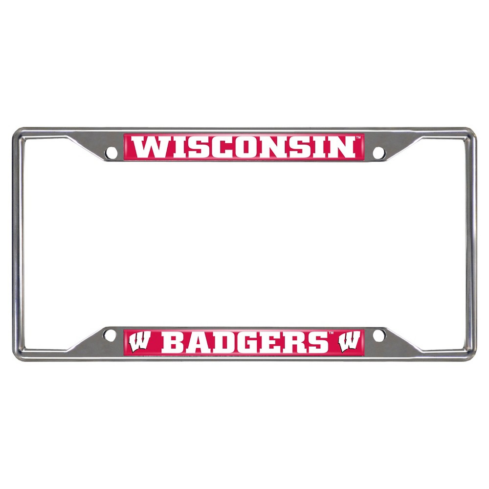 NCAA License Plate Frame University of Wisconsin