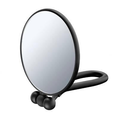 Conair Soft Touch Hand Held Round Mirror - 1x/5x - Black