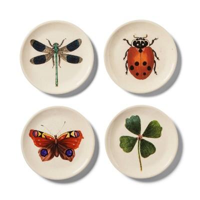 4pk Melamine Appetizer Plate Set Insect Print - John Derian for Target