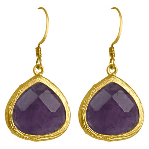 Zirconite® Small Agate Pear Shape Drop Earring - image 1 of 1