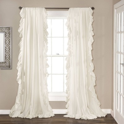 "63""x54"" Reyna Window Curtain Panel White - Lush Décor"