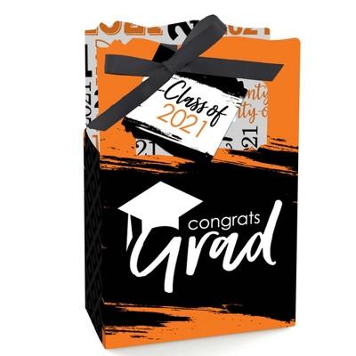Big Dot of Happiness Orange Grad - Best is Yet to Come - Orange 2021 Graduation Party Favor Boxes - Set of 12