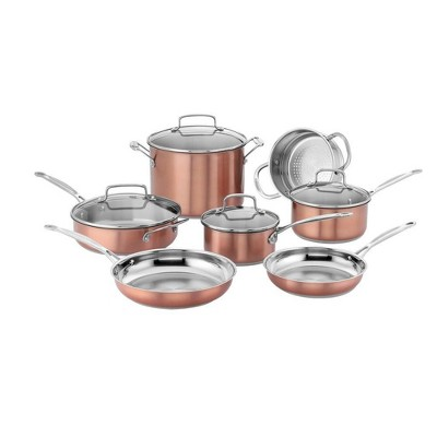 Cuisinart Chef's Classic 11pc Stainless Steel Copper Colored Set - CSS-11BU