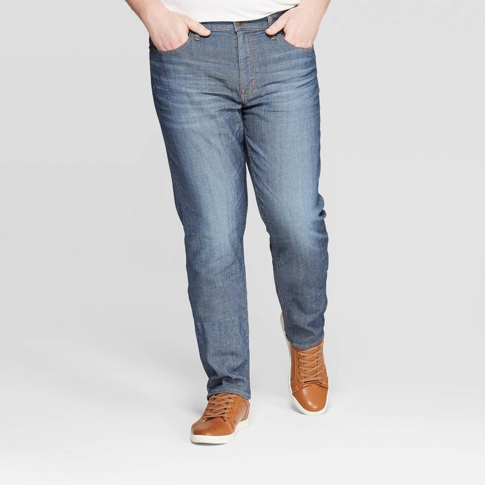 Men's Tall 36 Regular Slim Fit Jeans - Goodfellow & Co Medium Blue 30x36