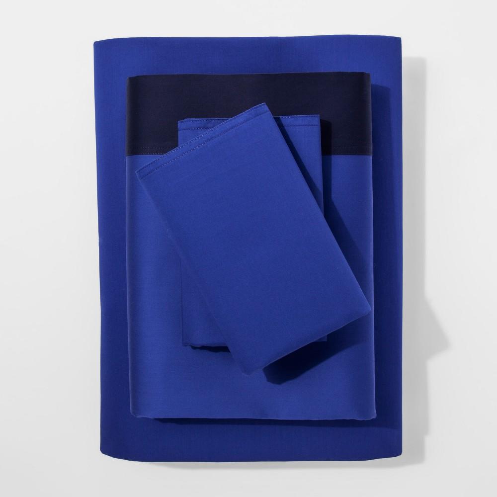 Modern Sheet Set (Full) Blue Hem 300 Thread Count - Project 62 + Nate Berkus