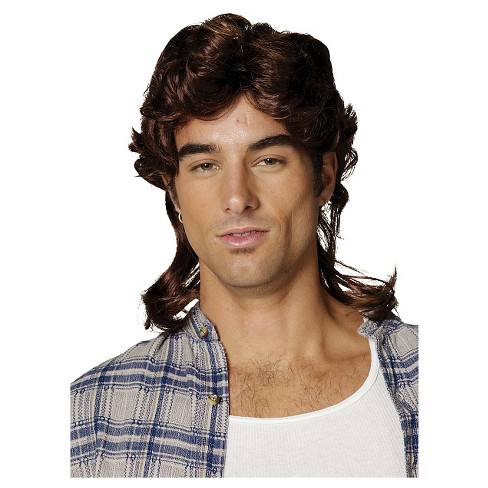 Mullet Costume Wig Brown - One Size Fits Most - image 1 of 1