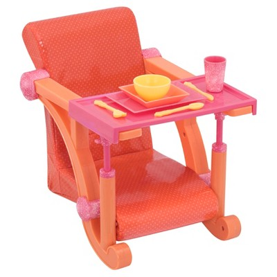 "Our Generation Let's Hang Clip-On Chair for 18"" Dolls - Bright Dots"