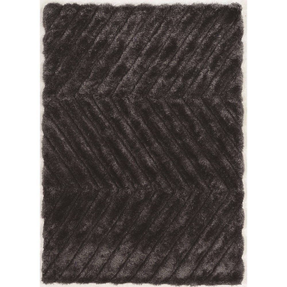 5 39 X7 39 Links Zigzag Rug Charcoal Gray Linon