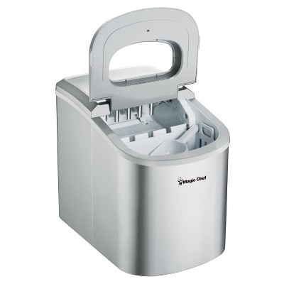 Magic Chef MCIM22SV Portable Home Countertop Ice Maker With Settings Display, 27 Pounds Per Day, Silver : Target